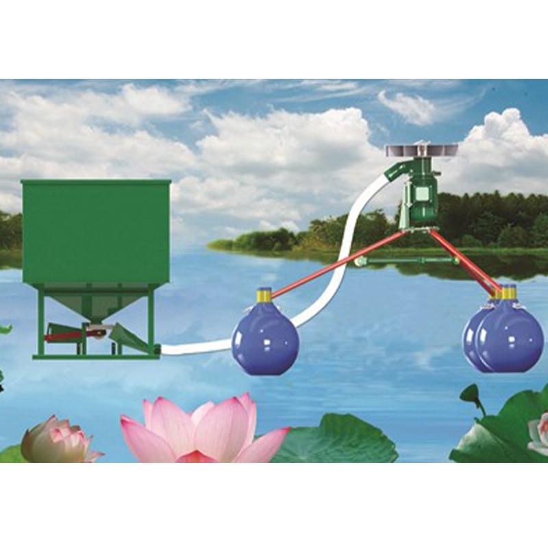 STFZ-3000W pneumatic fish pond feeding machine